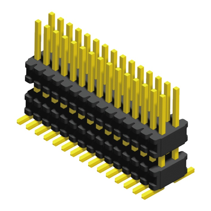 Pin Header 0.8mm 2 Row H=1.4mm Stack SMT Type
