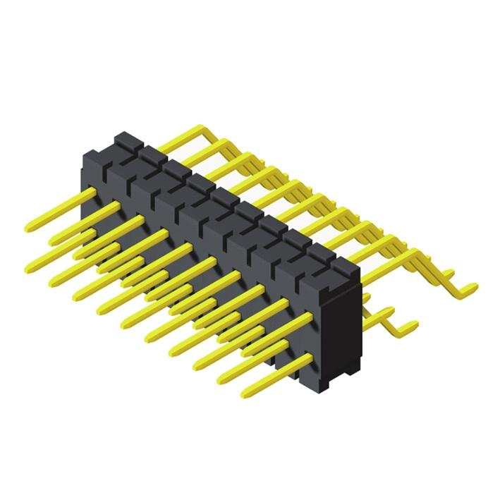 Pin Header 0.8mm 2 Row H=1.4mm SMT R/A Type