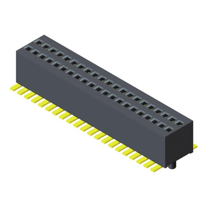 Female Header 0.8mm H=3.1mm 2 Row SMT Type