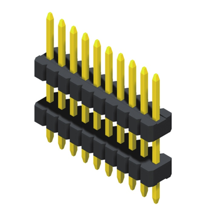 Pin Header 1.27mm 1 Row Stack Straight Type