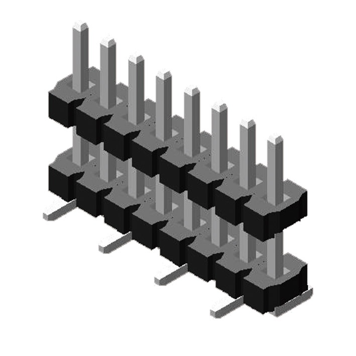 Pin Header 3.96mm 1 Row H=3.2mm Stack SMT type
