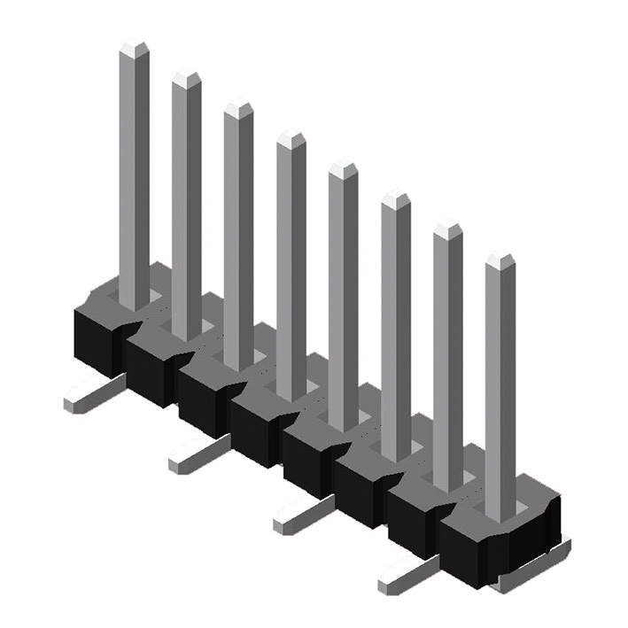 Pin Header 3.96mm 1 Row H=3.2mm SMT Type