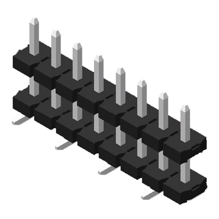 Pin Header 5.08mm 1 Row H=2.5mm Stack SMT Type