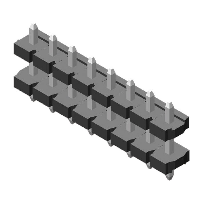 Pin Header 5.08mm 1 Row H=2.5mm Stack Stright Type
