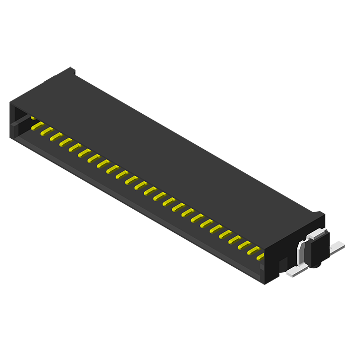 High Speed Board to Board 1.27mm Male SMT R/A Type H=8.2