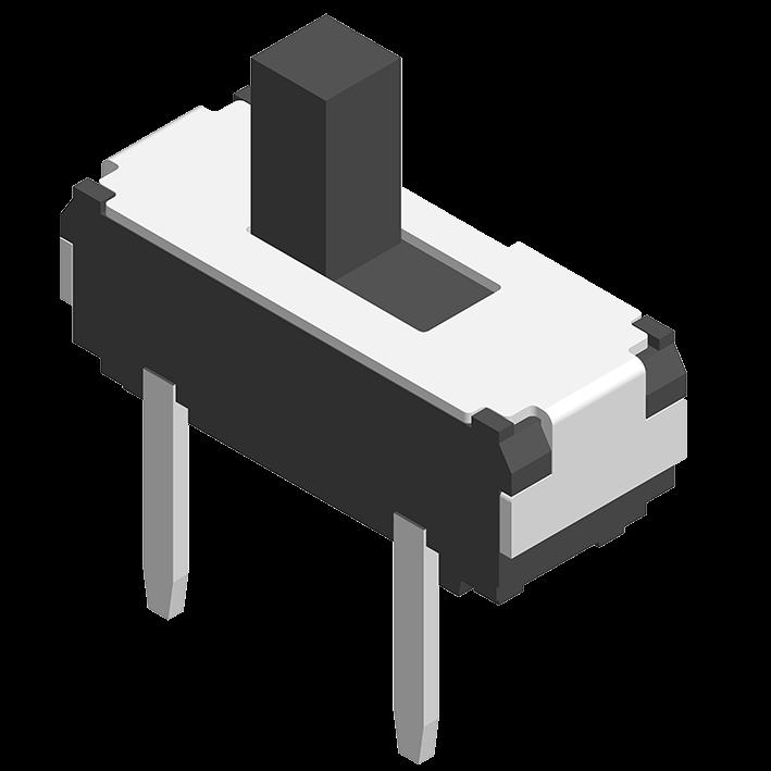 Slide Switch DIP 180° 3P H=5.5/6.5/7.5mm