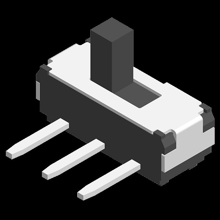 Slide Switch SMT 180° 3P H=5.5/6.5/7.5mm