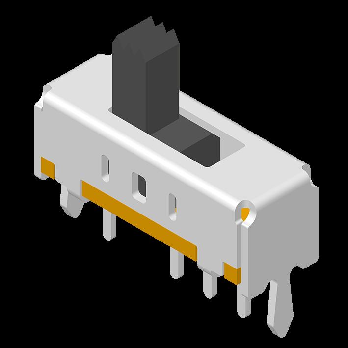 Slide Switch DIP 180° 4P H=8.7mm