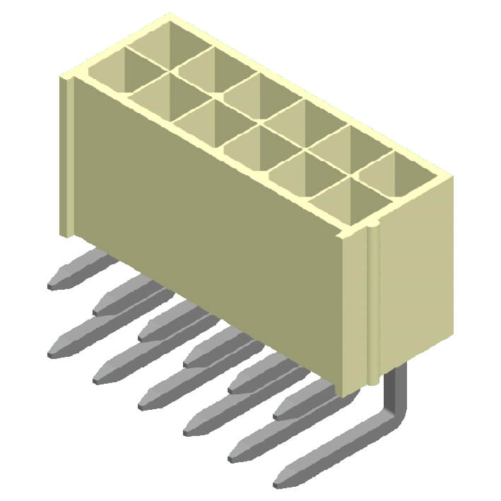 4200 Series 4.2mm Wafer Square Pin Right Angle 1 Row