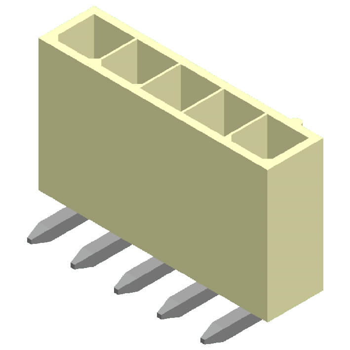 4200 Series 4.2mm Wafer Square Pin Right Angle 2 Row