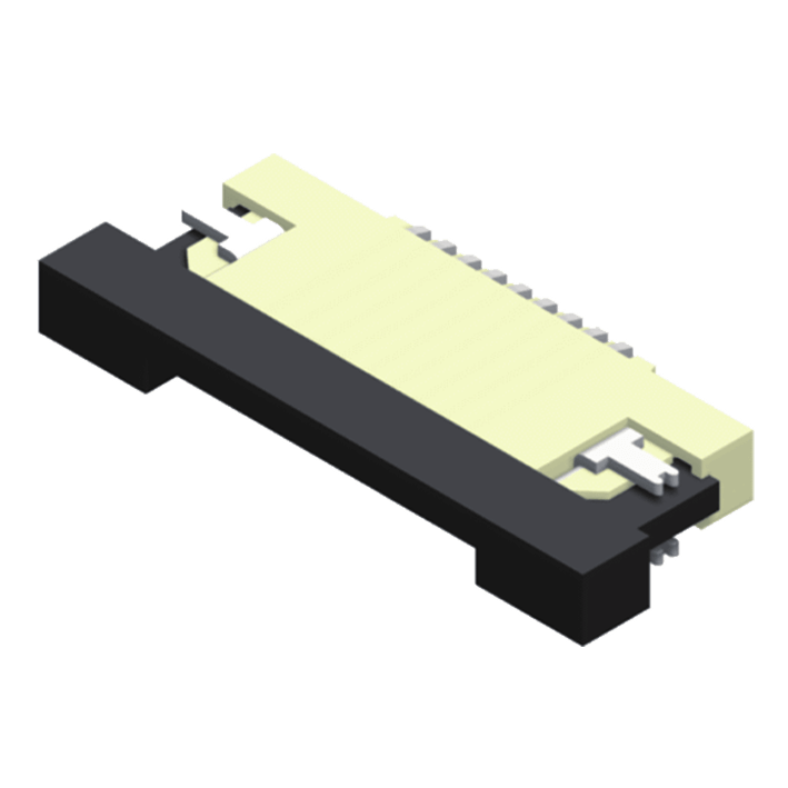 FPC/FFC 0.5mm ZIF Slim SMT Type Side Entry Bottom Contact