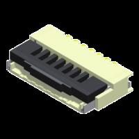 FPC/FFC 0.5mm Flip-Lock ZIF SMT Type Side Entry