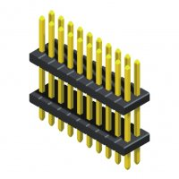 Pin Header 1.27mm 2 Row Stack Straight Type
