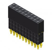 Female Header 2.54mm 2 Row H=8.5mm Elevated Press Fit Type