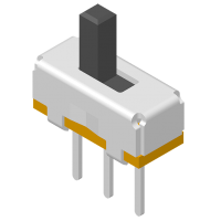 Slide Switch DIP 180° 3P H=7.5mm
