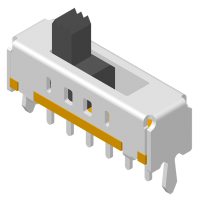 Slide Switch DIP 180° 6P H=7.7mm
