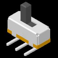 Slide Switch DIP 90° 3P H=3.7mm