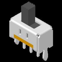 Slide Switch DIP 180° 3P H=8.7mm