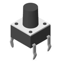 Tact Switch DIP 180° 4P H=14.0mm 160g