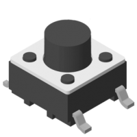 Tact Switch SMT 180° 4P H=4.3mm 160g
