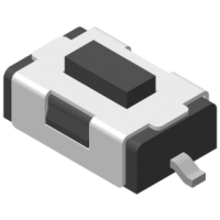 Tact Switch SMT 180° 2P H=2.6mm 180g Black